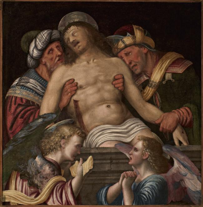 Cristo in pietà sorretto da Nicodemo e Giuseppe d'Arimatea con due angeli dolenti