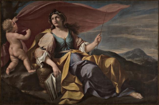 Figura femminile con putto (Sibilla?)