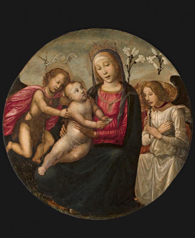 Madonna con Bambino e San Giovannino adorati da due angeli