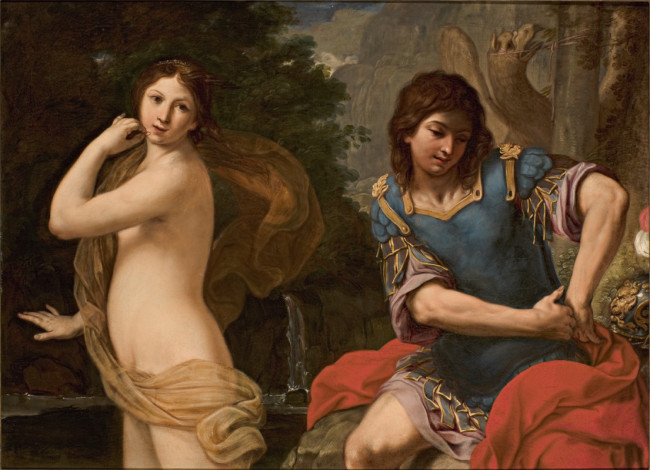 Angelica si sottrae a Ruggero con l'incantesimo dell'anello