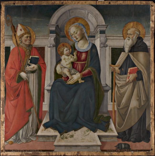 Madonna con Bambino in trono e i Santi Donato e Antonio Abate