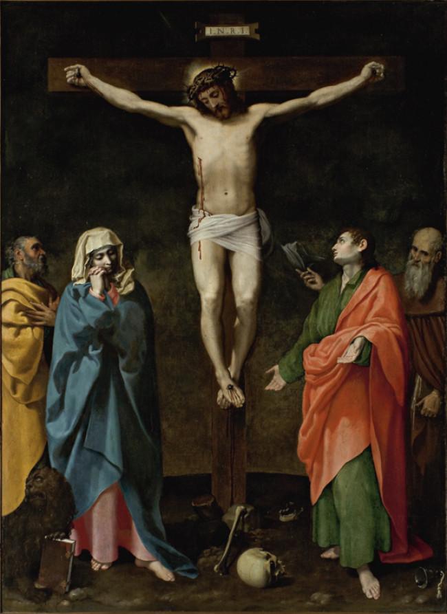 Crocifissione di Cristo con la Madonna e i Santi Giovanni Evangelista, Marco e Antonio Abate